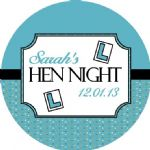 Personalised Hen Night Sticker Design 14